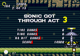 Sonic 2 - Retro Remix - Level  - where is sonic  - User Screenshot