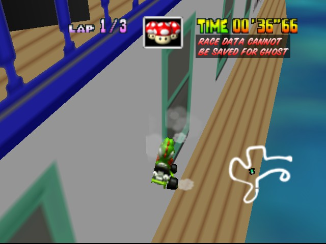 Mario Kart 64 - Level DK Jungle Parkway - boat owned! - User Screenshot