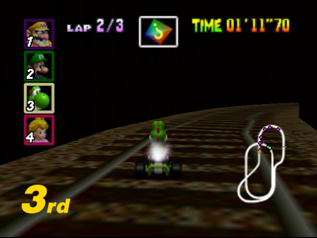 "Mario Kart 64 - Level Kalimari Desert - ""im going to do a shortcut!"" -me - User Screenshot"