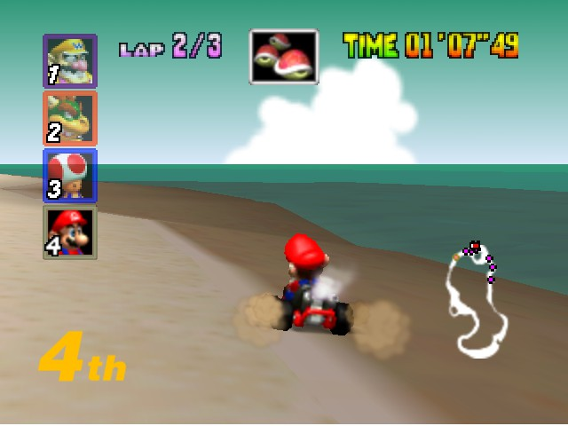 Mario Kart 64 - Level Koopa Troopa Beach - I think I suck at this... - User Screenshot