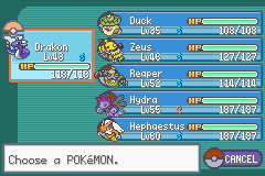 Pokemon - Yet Another Fire Red Hack - Character Profile team - my team before silph co. - User Screenshot