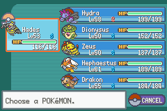 Pokemon - Yet Another Fire Red Hack - Character Profile lvl - my awesome team after the sixth badge - User Screenshot