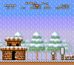 Super Mario Brothers Deluxe - World 5-1 - User Screenshot