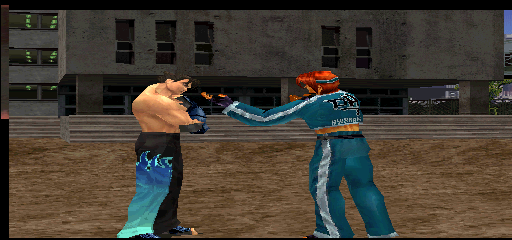 Tekken Tag Tournament (US, TEG3-VER.C1) - Misc Pre-Fight Animation - Jin & Hwoarang arguing before a fight - User Screenshot