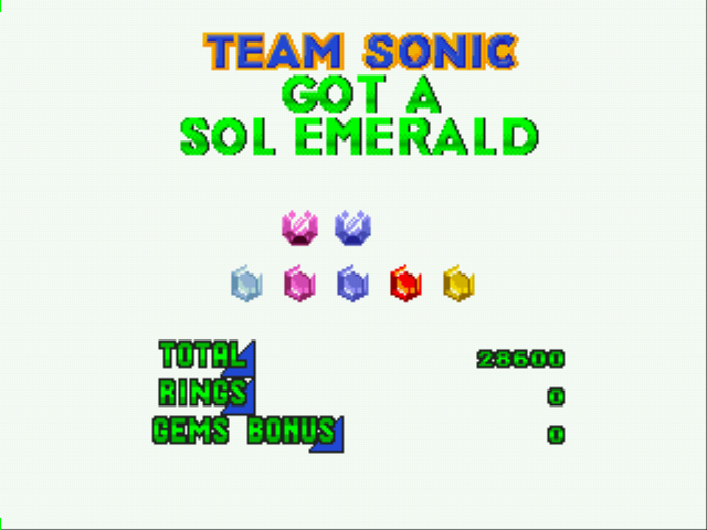 Sonic Classic Heroes - Cut-Scene  - Two Kinds of Emeralds - User Screenshot