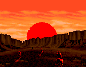 Sunset Riders (4 Players ver EAC) - Ending  - Riding into the Sunset... - User Screenshot