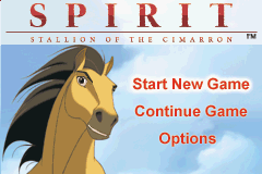 Spirit - Stallion of the Cimarron - Search for Homeland - Menus Main Menu - The main menu - User Screenshot
