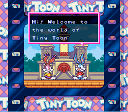 Tiny Toon Adventures - Buster Busts Loose! - Introduction  -  - User Screenshot