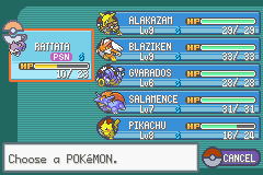 Rattata -Menus Pokemon Team:Poison is not such a vicious flea w/ TELEPORT - User Screenshot