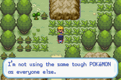 Pokemon Shiny Gold - Level Route 32 - Preaching to the choir. - User Screenshot