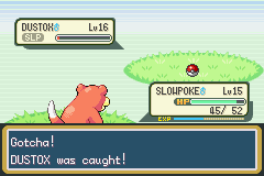 Pokemon Shiny Gold - Battle  - My fierce foe is now my captive. - User Screenshot