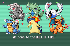 Pokemon Rebirth - Ending  - my champion team  - User Screenshot