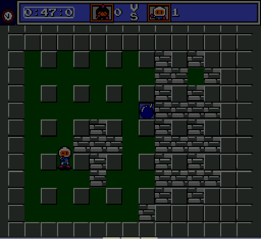 Mega Bomberman - block cross - User Screenshot