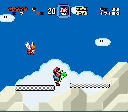 Super Mario World - omg yoshi can float on thin air?? - User Screenshot