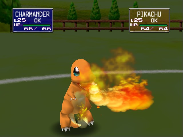 Pokemon Stadium - Charmanders Fire Blast - User Screenshot