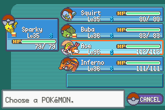 Pokemon Ash Gray (beta 2.5z) - My Team At The End - User Screenshot