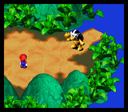 Super Mario RPG - Legend of the Seven Stars - no toad i wander where he went - User Screenshot