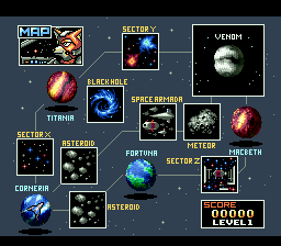 Star Fox - Level Select - User Screenshot