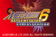 Megaman Battle Network 6 Cybeast Falzar - Start Screen - User Screenshot