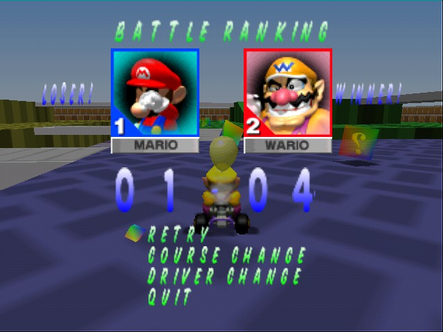 Mario Kart 64 - DANG...you matthew - User Screenshot