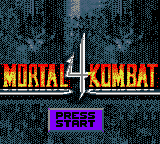 Mortal Kombat 4 - title screen...not really so bad :) - User Screenshot