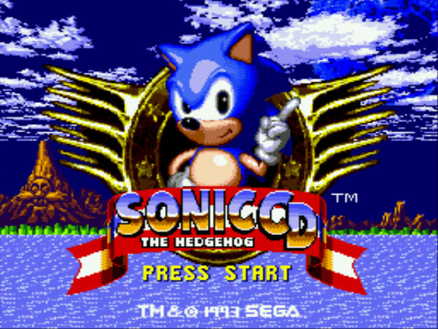 Sonic CD - Introduction  - title screen - User Screenshot