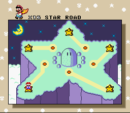 Super Mario All-Stars + Super Mario World - Location  - star road - User Screenshot
