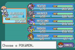 Pokemon Fire Red - Character Profile Party - my team lmfaooooooo - User Screenshot