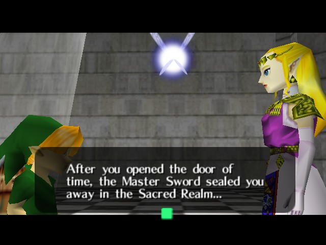 The Legend of Zelda - Ocarina of Time (Debug Edition) - Cut-Scene  - Um....ok reset time! - User Screenshot