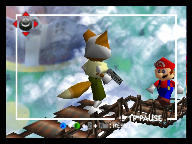Super Smash Bros. - Battle  - Fox Vs. Mario - User Screenshot