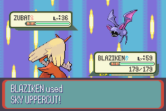 Pokemon Ruby - Battle  - STOP SHOWING THAT ZUBAT THAT YOUR THE BOSS!!! - User Screenshot