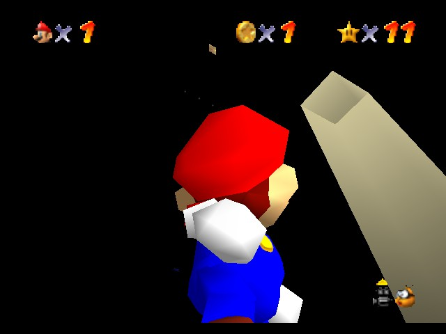 Super Mario 64 - Cut-Scene  - door in the sky always thourght was a glitch  - User Screenshot