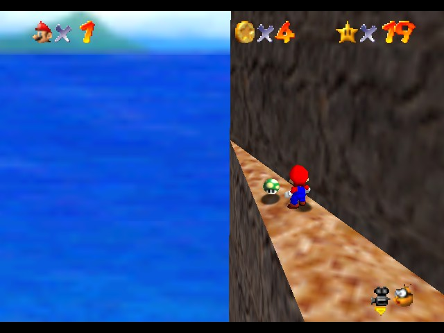 Super Mario 64 - Cut-Scene  - look i only have 19 stars speedrun techinques - User Screenshot