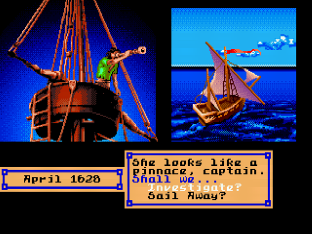 Pirates! Gold - Cut-Scene  - Pinnace. - User Screenshot