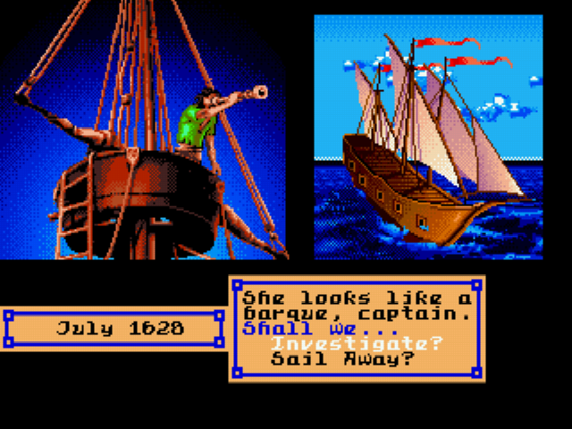 Pirates! Gold - Cut-Scene  - Barque. - User Screenshot