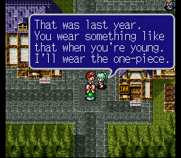Lufia II - Rise of the Sinistrals - Cut-Scene  - WARNING! Marriage makes people old! - User Screenshot