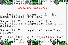 Activision Anthology - Menus Boxing: Manual - note: this isn