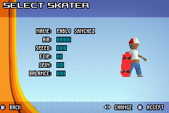 Backyard Skateboarding - Character Select  - pablo? is that you? - User Screenshot