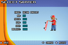 Backyard Skateboarding - Character Select  - polygonal! - User Screenshot