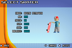 Backyard Skateboarding - Character Select  - no face! - User Screenshot