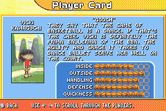 Backyard Sports   Basketball 2007 · Congo! Vicki Kawaguchi  Character  Profile :hardcore Stats   User Screenshot