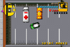 Grand Theft Auto Advance - Level  - more recognizable ambulance than the GBC GTA - User Screenshot