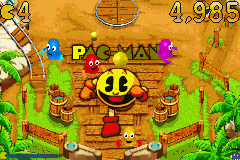 Clyde -Level Haunted Boardwalk:i like that artwork of pac-man - User Screenshot