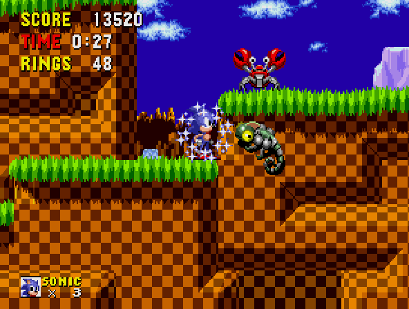 Newtron -Level Green Hill Zone Act 3:just another day in green hill zone - User Screenshot