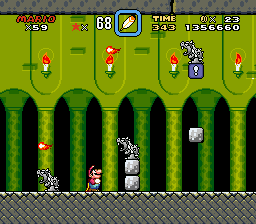 Super Mario World - Level Bowser - mama mia statues!!! - User Screenshot