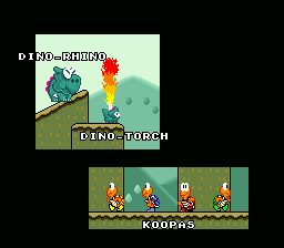 Super Mario World - Ending  - those dino enemies never showed up again. - User Screenshot