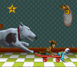 Woody -Level Roller Bob:run away from the 3d dog! - User Screenshot