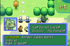Pokemon Mystery Dungeon - Red Rescue Team - Cut-Scene  - REALLY. JUST REALLY ow ow ow my stomach. WAT! - User Screenshot
