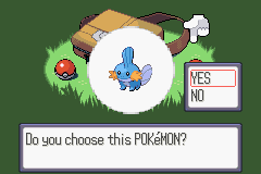 Pokemon Sapphire - Character Select  - Team Member #1 - User Screenshot