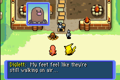 Pokemon Mystery Dungeon - Red Rescue Team - Cut-Scene  - Diglett has feet O.O - User Screenshot
